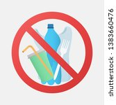 no plastic signal  protest... | Shutterstock . vector #1383660476