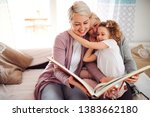 a small girl with mother and... | Shutterstock . vector #1383662180