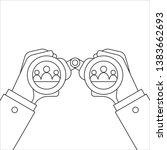 hand and binocular. recruitment ... | Shutterstock . vector #1383662693