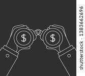 businessman looking for money... | Shutterstock . vector #1383662696