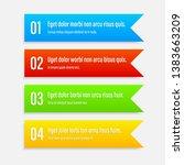 gradient infographics banners.... | Shutterstock .eps vector #1383663209