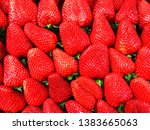 strawberries. group of ripe red ... | Shutterstock . vector #1383665063