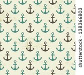 seamless vintage pattern with... | Shutterstock .eps vector #138366803