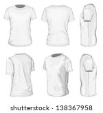 all views men's white short... | Shutterstock .eps vector #138367958