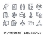 management related line icon...   Shutterstock .eps vector #1383686429