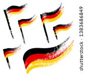 set of grunge flags of germany... | Shutterstock .eps vector #1383686849