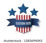 2020 american presedential... | Shutterstock . vector #1383694043