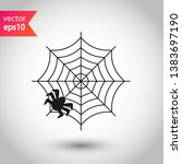 spider web icon. spider web... | Shutterstock .eps vector #1383697190