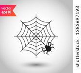 spider web icon. spider web... | Shutterstock .eps vector #1383697193
