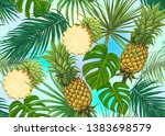 seamless pattern  background... | Shutterstock .eps vector #1383698579