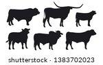 bull isolated on white. black... | Shutterstock .eps vector #1383702023