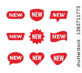 new tag sign   concept stiker... | Shutterstock .eps vector #1383711773