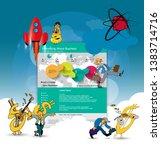 colorful website design for... | Shutterstock .eps vector #1383714716