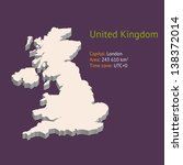 3d map of the uk isolated on... | Shutterstock .eps vector #138372014