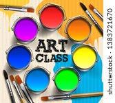 art class  workshop template... | Shutterstock .eps vector #1383721670