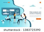 business concepts for analysis... | Shutterstock .eps vector #1383725390