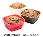 choccolate brown muffin dessert ... | Shutterstock . vector #1383725873