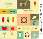summer design elements | Shutterstock .eps vector #138373184
