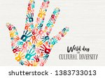 cultural diversity day... | Shutterstock .eps vector #1383733013