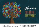 cultural diversity day... | Shutterstock .eps vector #1383733019