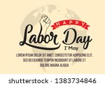typography of happy labor day... | Shutterstock .eps vector #1383734846