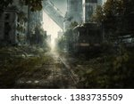 Apocalyptic City Scene With...