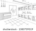 shop store interior graphic... | Shutterstock .eps vector #1383739319