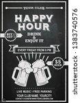 beer happy hour flyer design on ... | Shutterstock .eps vector #1383740576