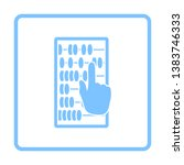 abacus icon. blue frame design. ... | Shutterstock .eps vector #1383746333