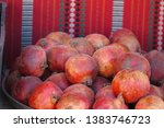 fresh pomegranates with arabian ... | Shutterstock . vector #1383746723