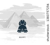 vector icon of great sphinx of... | Shutterstock .eps vector #1383757256