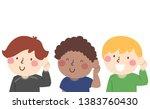 illustration of kids with hands ...   Shutterstock .eps vector #1383760430