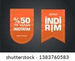 indirim etiketleri yazilari.... | Shutterstock . vector #1383760583