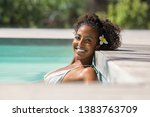 portrait of young black woman...   Shutterstock . vector #1383763709
