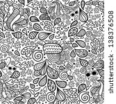 cute cartoon doodle hipster... | Shutterstock .eps vector #138376508