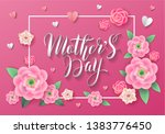 mother's day greeting card with ... | Shutterstock .eps vector #1383776450