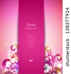 glamour vector background with... | Shutterstock .eps vector #138377924