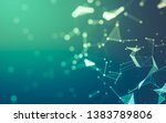 abstract polygonal space low... | Shutterstock . vector #1383789806