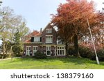 Typical Dutch House With Red...