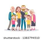 family portrait. parents ... | Shutterstock .eps vector #1383794510