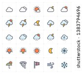 icon set   weather and forecast ... | Shutterstock .eps vector #1383794696