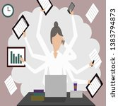 woman in the office ... | Shutterstock .eps vector #1383794873