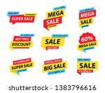 sale tags collection. special... | Shutterstock .eps vector #1383796616