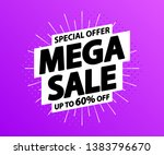 sale tag. special offer  big... | Shutterstock .eps vector #1383796670