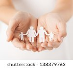 close up of womans cupped hands ... | Shutterstock . vector #138379763