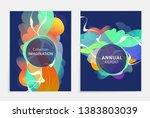 set of designs for flyer ...   Shutterstock .eps vector #1383803039
