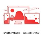cross platform vector icons... | Shutterstock .eps vector #1383813959