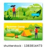 vector set of bright banner... | Shutterstock .eps vector #1383816473