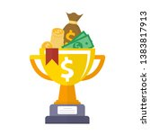 golden cup championship prize... | Shutterstock .eps vector #1383817913