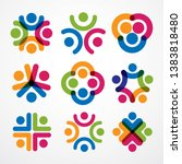 teamwork and friendship... | Shutterstock .eps vector #1383818480